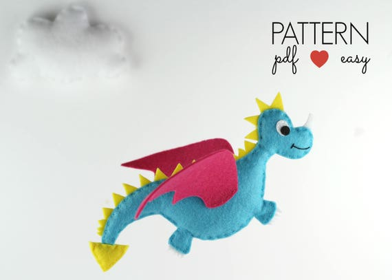 DIY Felt Dragon crib mobile