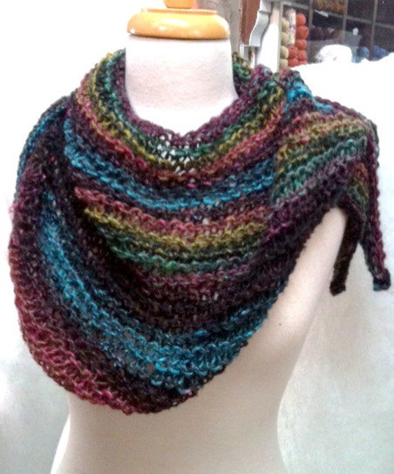 The Colour Makes It Easy Knitted Shawl Pattern Etsy