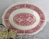 Platter Syracuse quot Strawberry Hill Pink quot , Restaurant Ware, MINT Condition, Syracuse Oval Scalloped Tray, Made in USA