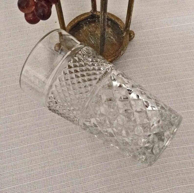 Romantic French Style Flower Vase MINT Condition Cottage Chic Basket Vase, La Tour Basket Shabby Chic Vase Metal and Glass Vase