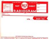 1955, RCA Radiogram, RCA Communications, Inc, Ephemera, Authentic, Original, NOS, Unused, Uncommon Find, Explore Now , embrace123