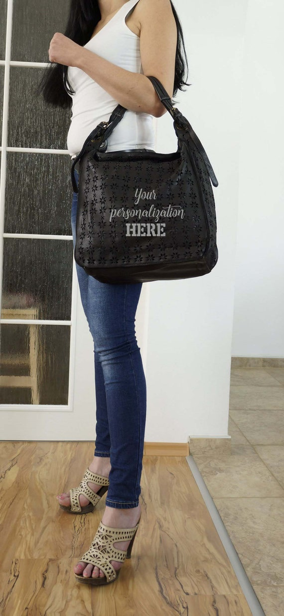 Black Leather Bag, Soft Leather, Gift for her, Lea