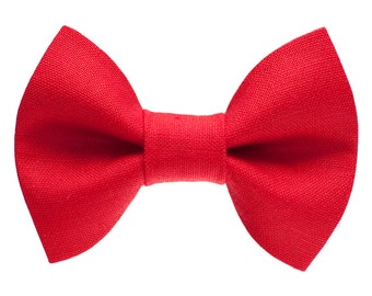 """Cat Bow Tie - """"The Boss Is In"""" -  Red"""