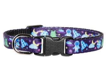 """Cat Collar - """"The Spaced Out"""" - Space Print"""