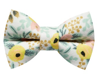 """Cat Bow Tie - """"The Muse"""" - Rifle Paper Fabric Floral Print"""