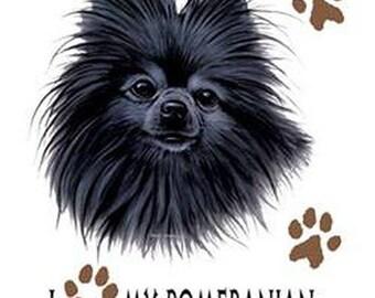 Pomeranian Dog WOMENS SHORT SLEEVE T Shirt I Love My Pomeranian 11012HD4