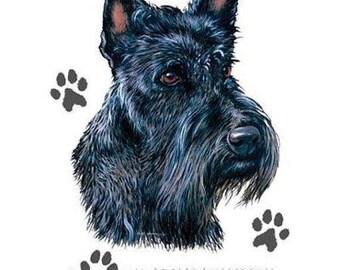 Scottish Terrier Dog WOMENS SHORT SLEEVE T Shirt I Love My Scottish Terrier 0776HD4
