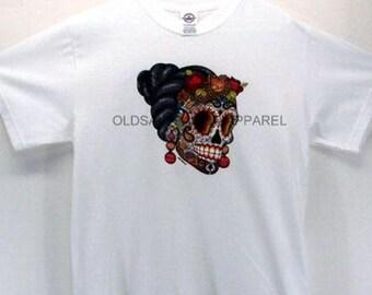 Sugar Skull Day of the Dead WOMENS Short Sleeve T Shirt 18371