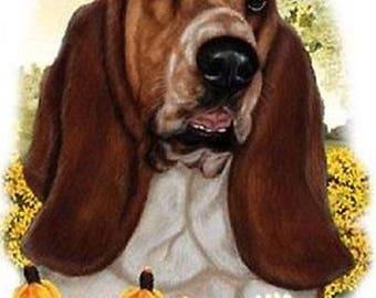 Basset Hound Flower Dog Womens Short Sleeve T Shirt 15010HL4
