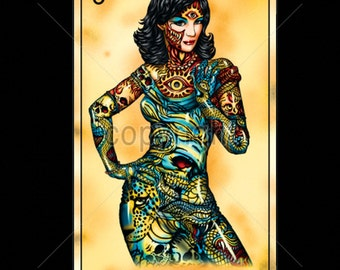 La Dama The Woman Skull WOMENS Short Sleeve T Shirt  17495