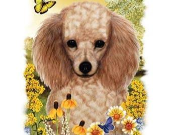 Honey Poodle Flower Dog Womens Short Sleeve T Shirt 16602HL4