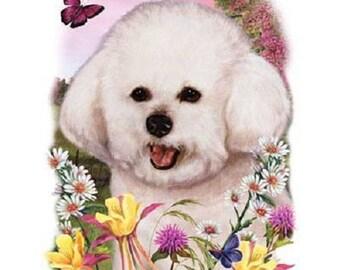 Bichon Frise Flower Dog Womens Short Sleeve T Shirt 15008HL4