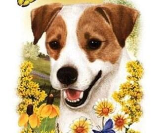 Jack Russell Terrier Flower Dog Womens Short Sleeve T Shirt 15020HL4