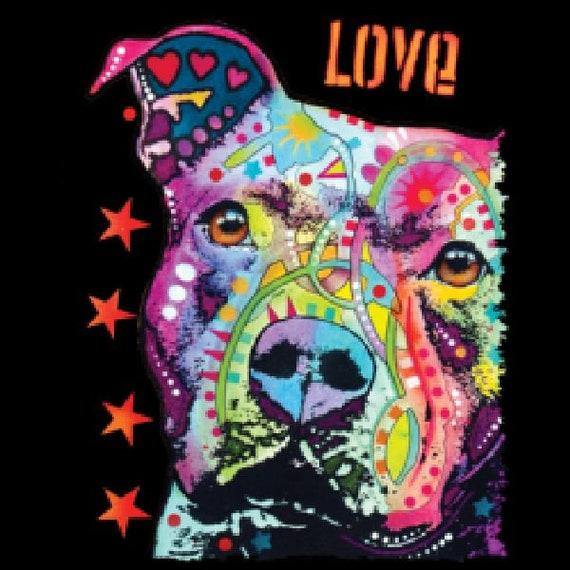 Gratitude Pit  Bull  Neon  Black Light   Sweatshirt// Longsleeved tshirt
