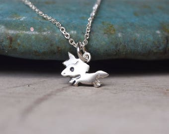 Cute unicorn baby sterling silver necklace unicorn charm necklace - gift for girl