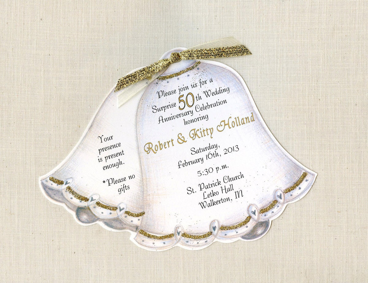 45 Personalized And Handcut Party Invitations 50th Wedding Etsy
