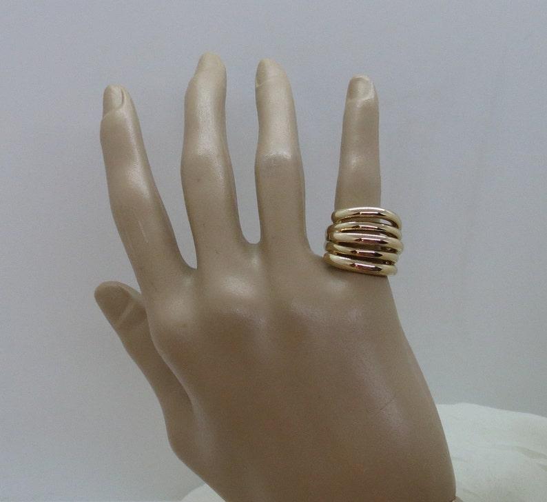 Puffy 14K Yellow Gold Ring SZ 5.25