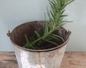 Old Metal Bucket with Handle