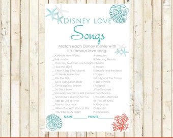 Beach bridal shower etsy beach bridal shower disney love songs match game beach party instant download beach theme starfish coral disney bridal love songs game 0001 filmwisefo