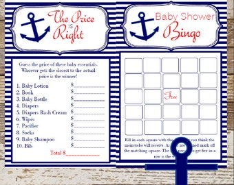 Nautical bingo game | Etsy
