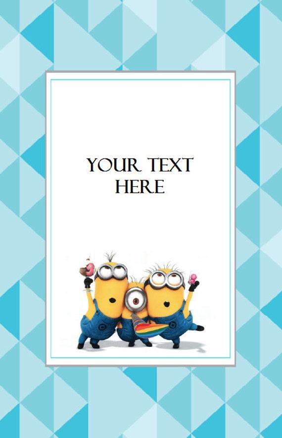 Minions Invitation Instant Download Editable