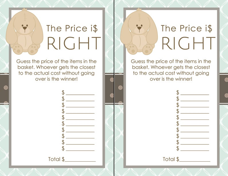 Bunny Shower Package Instant Download Baby Rabbit Editable Invitation Editable Tags Baby Bunny Theme Bunny Game Package Bunny Tags 0033
