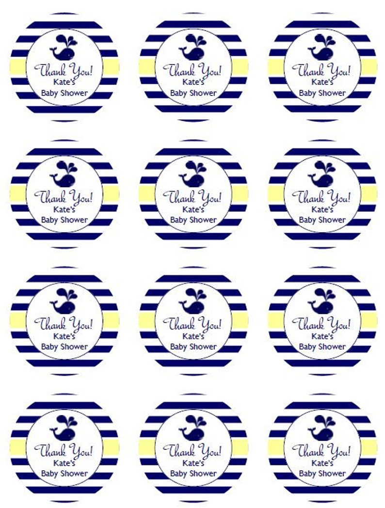 Cupcake Topper BS391 Baby Shower Birthday Party 3 Types of Tags ~ Instant Download Editable Tags 2 Round Printable Tags Party Favors