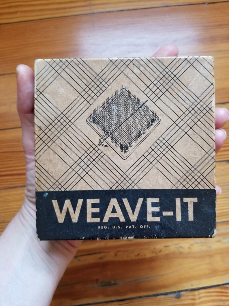 Antique Vintage EUC Weave-It Mini Wooden Loom Box Instructions Needle  Shuttle Donar Products Tapestry Kaufmann's Pittsburgh Granny Squares