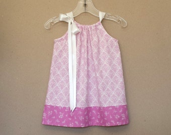 New! Baby Girls Lilac Dress and Bloomers Outfit - Infants Purple & White Pillowcase Dress - Baby Sun Dress - Size Nb, 3m, 6m, 9m, 12m or 18m