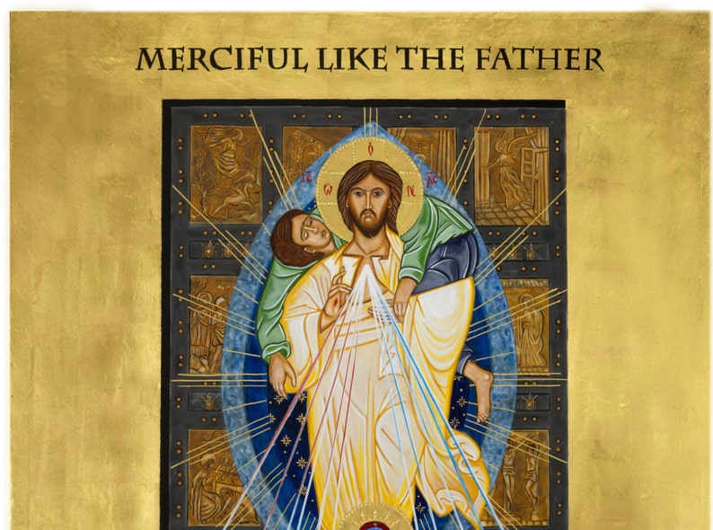 Year of Mercy Icon  ready to frame print from original icon 8x10 11x14 16x20 24x36