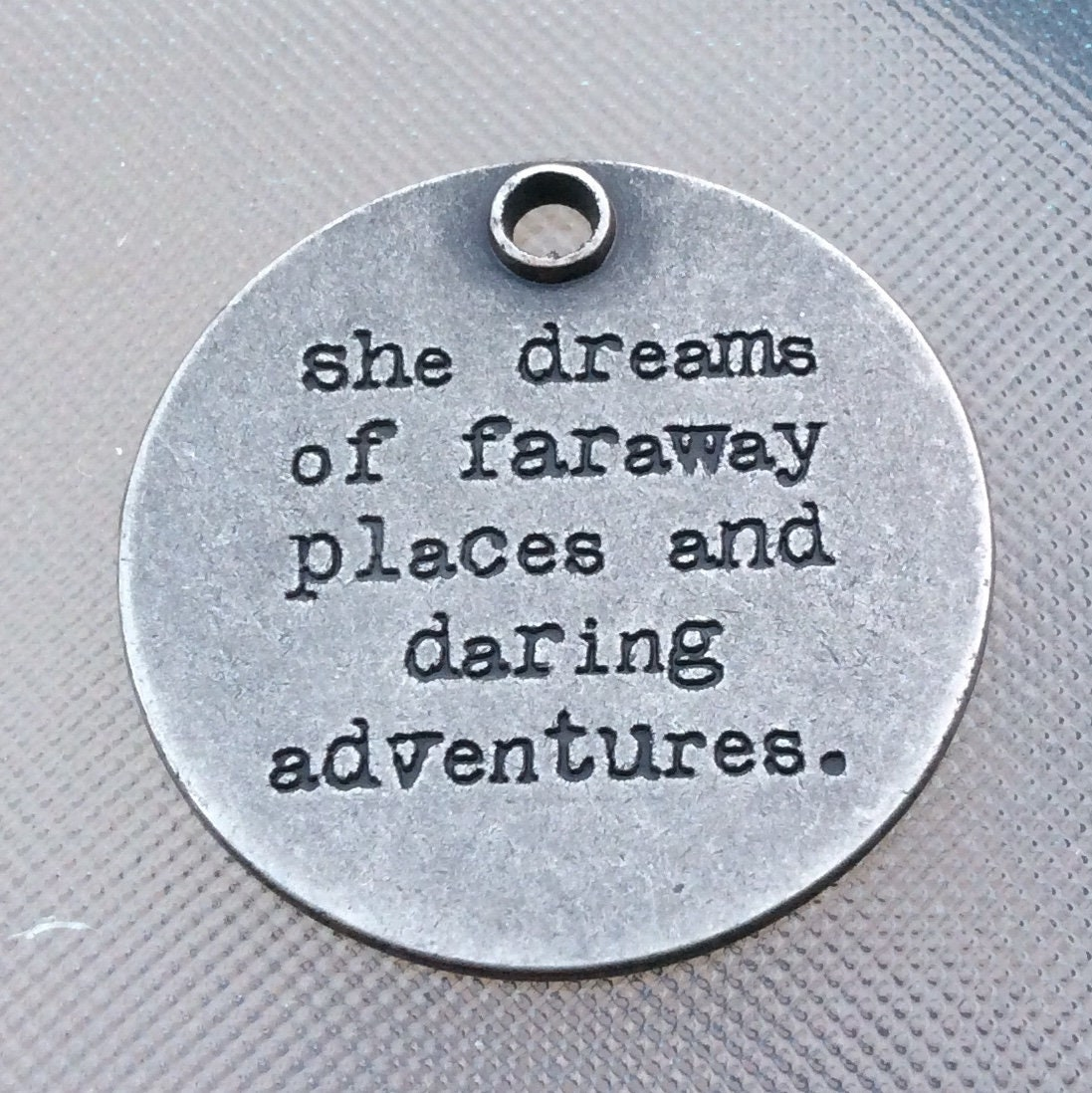She dreams of faraway places and daring adventures beaded purse charm for handbag laptop bag charm for her gift under 20 dreamer charms
