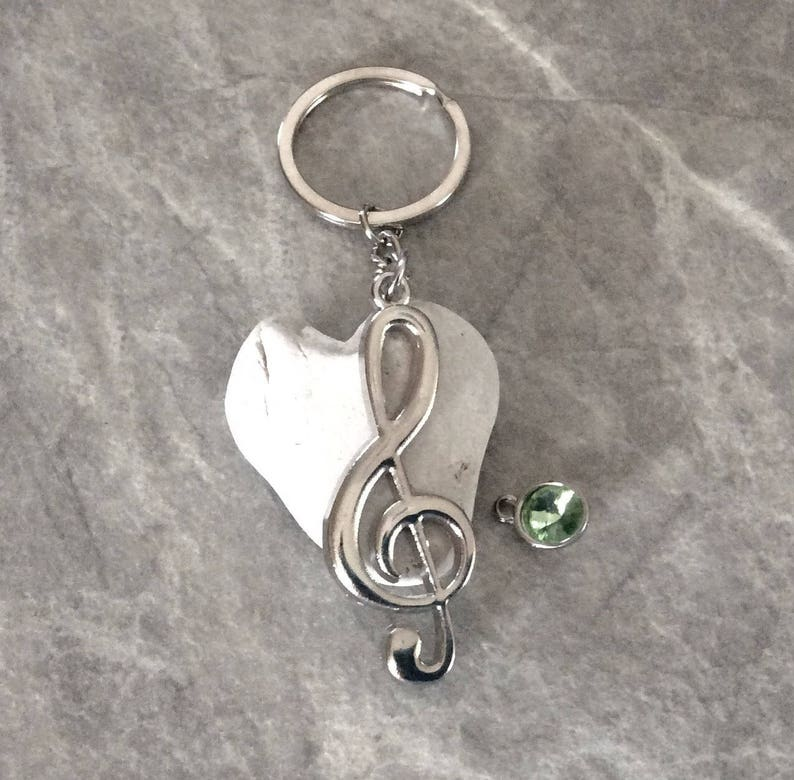 can personalize Musical note Silver keychains Musical gift keychain 3 Music lovers key ring