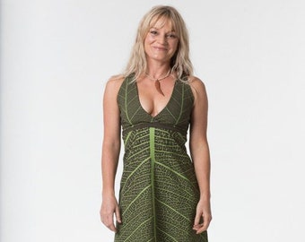 Forest Faerie Leaf Dress - Leafy Dress - Elf Dress - Faerie Dress - Fairy Dress - Pixie Dress - Forest Fairy