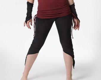 f175d326adf18 3/4 Length - Forest Fairy - Pixie Leggings - Organic Fabric