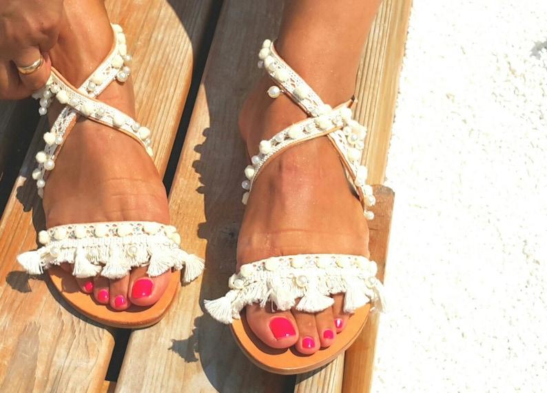 ce0fb589c5d Wedding sandalsbridal sandals party sandalsGreek leather