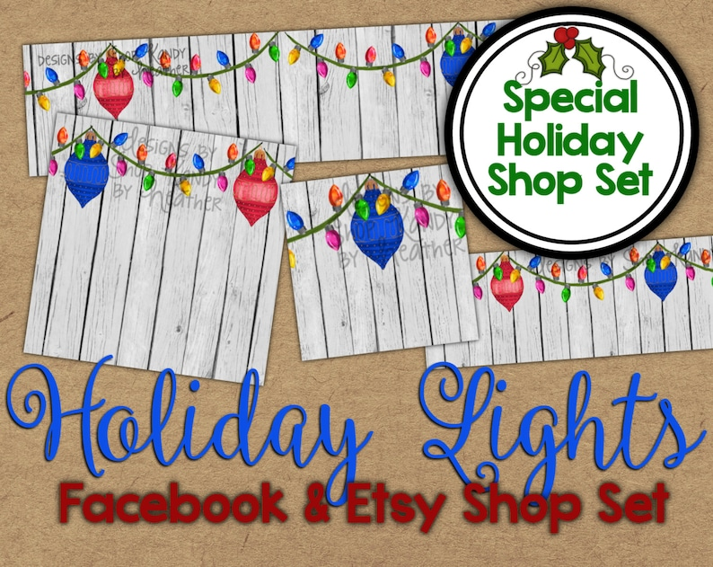 72501e6fa59d3 Christmas Etsy Banner Set - Watercolor Shop Banner - Holiday Facebook Shop  Graphics - Christmas Shop Banner - Watercolor Holiday Etsy Banner