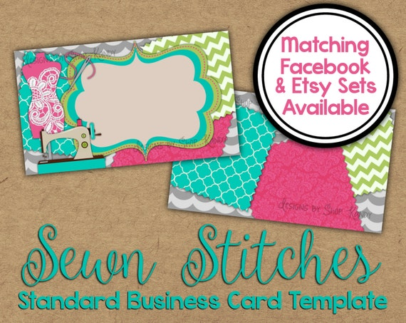 Sewn stitches business card 2 sided sewing business card etsy image 0 colourmoves