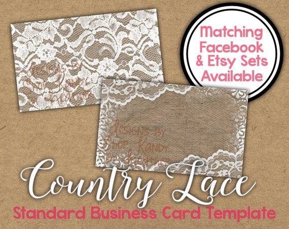 lace business card 2 sided country lace business card etsy