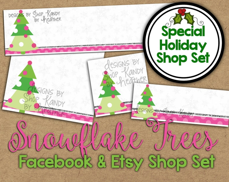 05b2b991c1686 Christmas Etsy Banner Set - Winter Shop Banner - Holiday Facebook Shop  Graphics - Christmas Shop Banner - Holiday Etsy Banner Shop Set