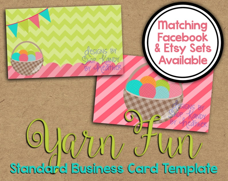 Yarn Business Card Crochet Business Card Business Card Etsy