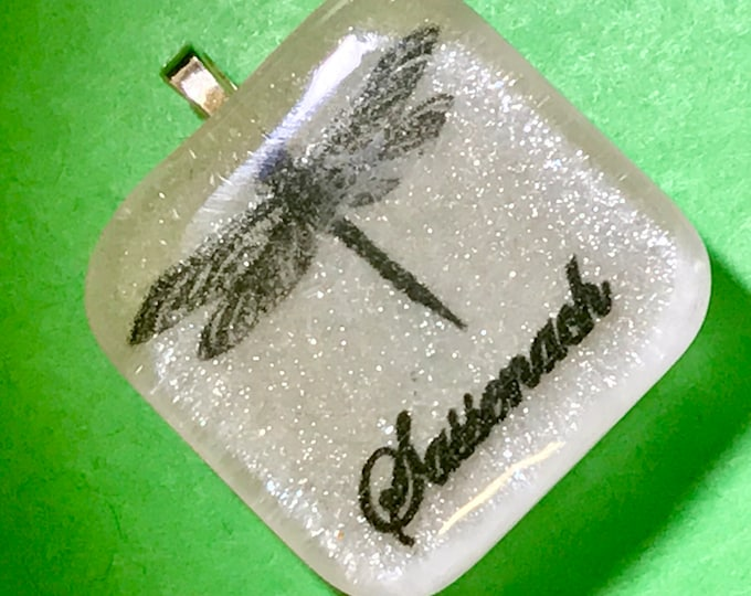 Sassenach Pendant - Dragonfly Pendant - white Pendant - Resin Pendant - Outlander Inspired - Celtic Dragonfly~Dragonfly Jewelry - Silver