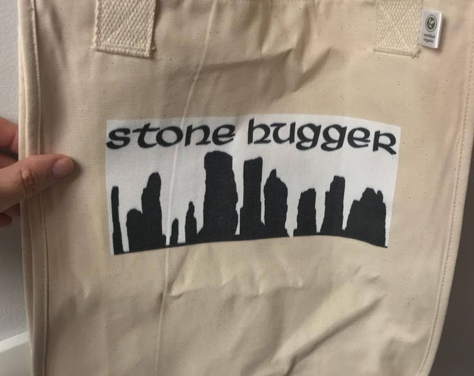 Stone Hugger Organic Market Tote~cotton Tote-Shopping Tote~Shopping Bag~Travel Tote~book Bag