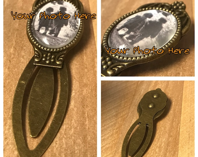 Custom Antique Brass Bookmark - Custom Photo - Custom Keepsake - Book Person - Oval Portrait - Artwork - Image-Shadowhunters