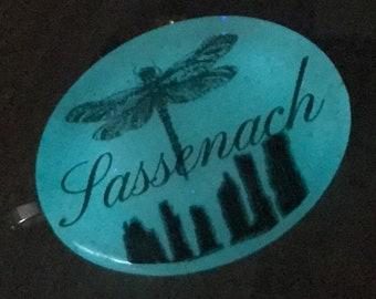 Sassenach Pendant - Dragonfly Pendant - Stone Pendant - Resin Pendant - Outlander Inspired - Celtic Dragonfly~Outlander Jewelry - Silver