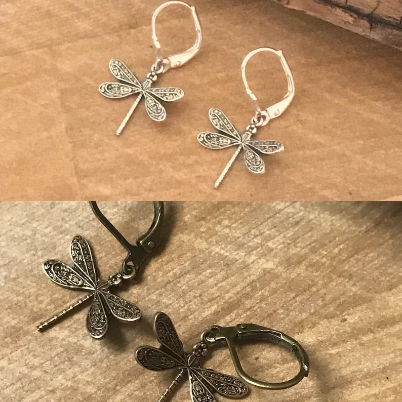 Dragonfly Earrings  Outlander Inspired  Outlander Jewelry  image 0