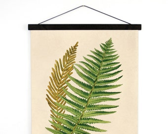Fern Pull Down Chart - Vintage Botanical Ostrich Fern Chart Reproduction Print. Vintage Science Plate Print. Diagram Science Plants - B034CV