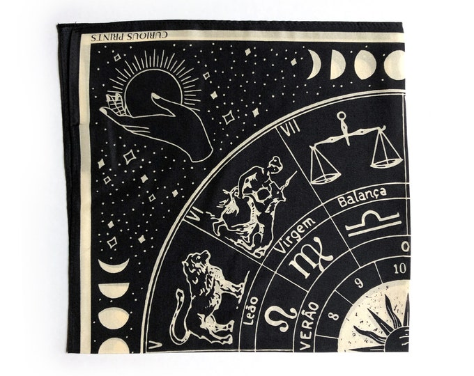 Featured listing image: PREORDER 100% Silk Scarf Signs of the Zodiac Astrology Bandana 17x17