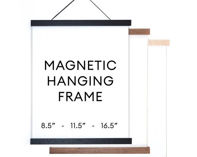 Featured listing image: Magnetic Wood Hanging Poster Frame