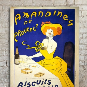 Extra Large Wall Art Vintage French Poster Oversized Canvas Etsy