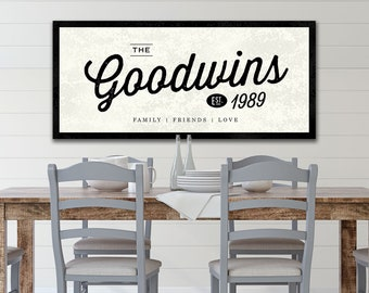 PERSONALIZED Family Name Sign, Established Last Name Sign, Farmhouse Sign, Custom Gift for Parents, Vintage Sign, Family Wall Art.
